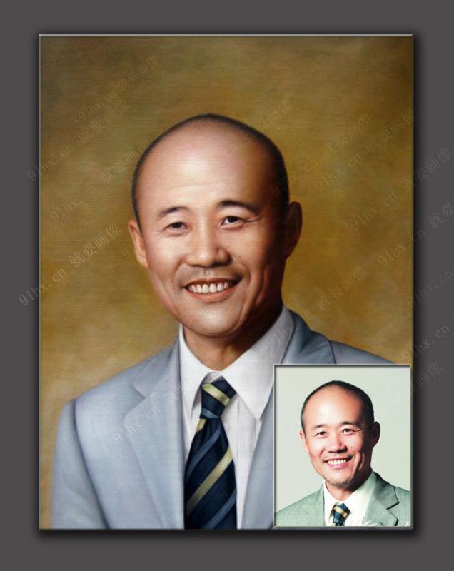 王石商务肖像油画