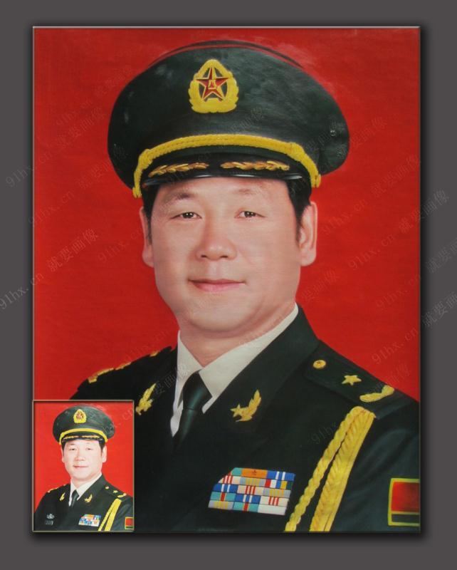 建军节给首长定制一幅军人油画