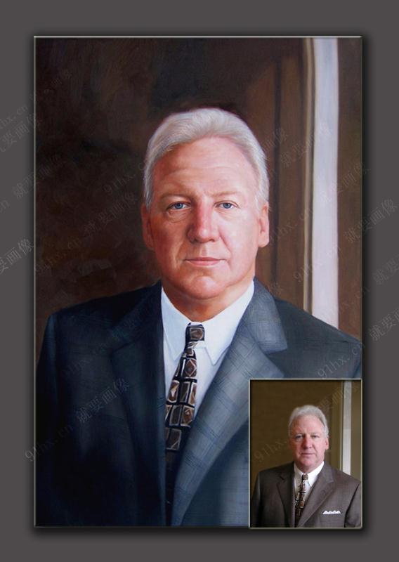 商务肖像油画