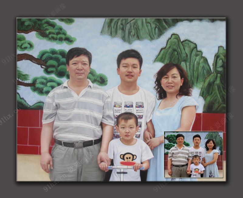 家庭肖像油画