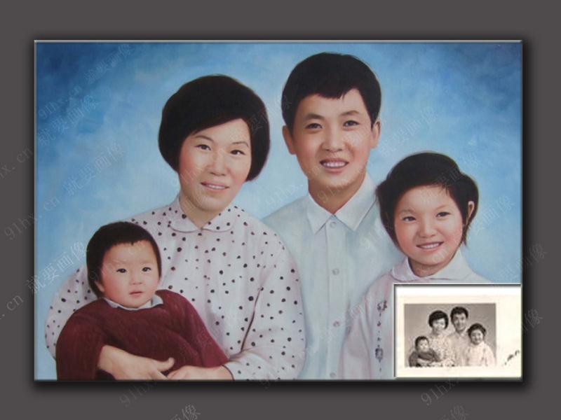 一幅全家福肖像画,画上那些对你来说独一无二的亲人们的画像,使它可以作为您家族的遗产传给历代的后继者。