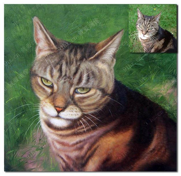 宠物油画-猫油画