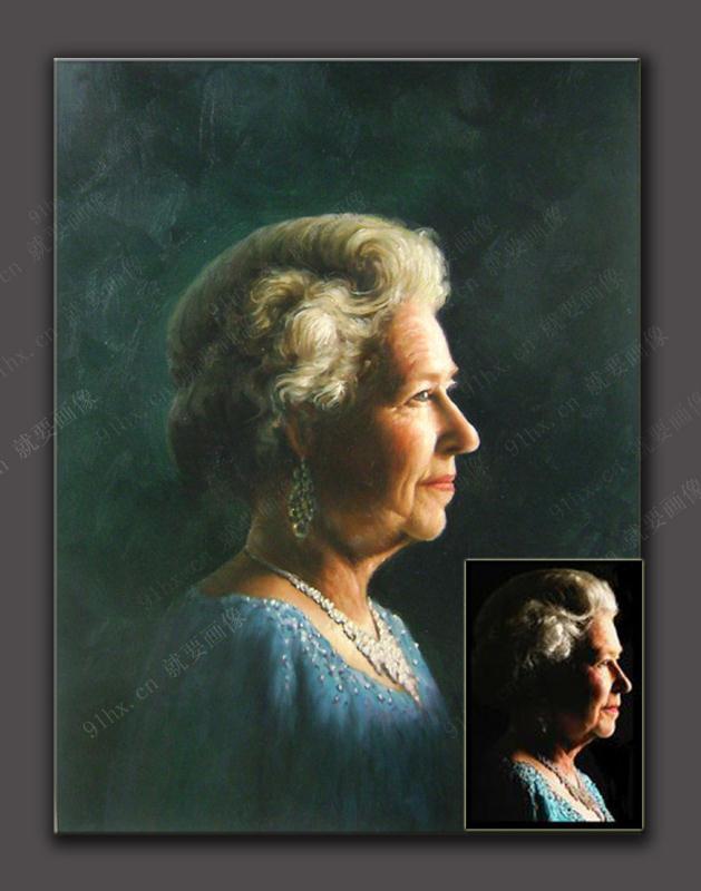 国女王自己有一个肖像画博物馆,一生每隔一段时间就画一张肖像画