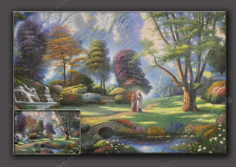 风景油画临摹