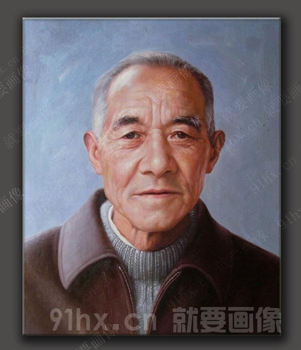 老人肖像油画