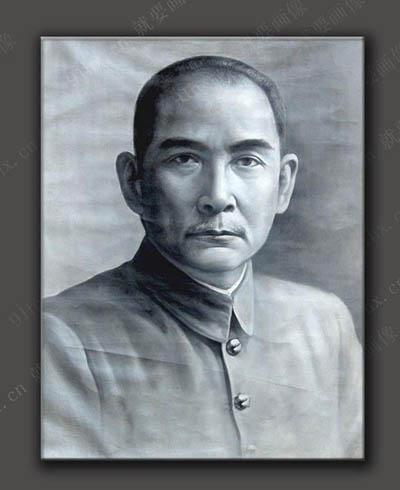 孙中山肖像油画-孙中山油画画像
