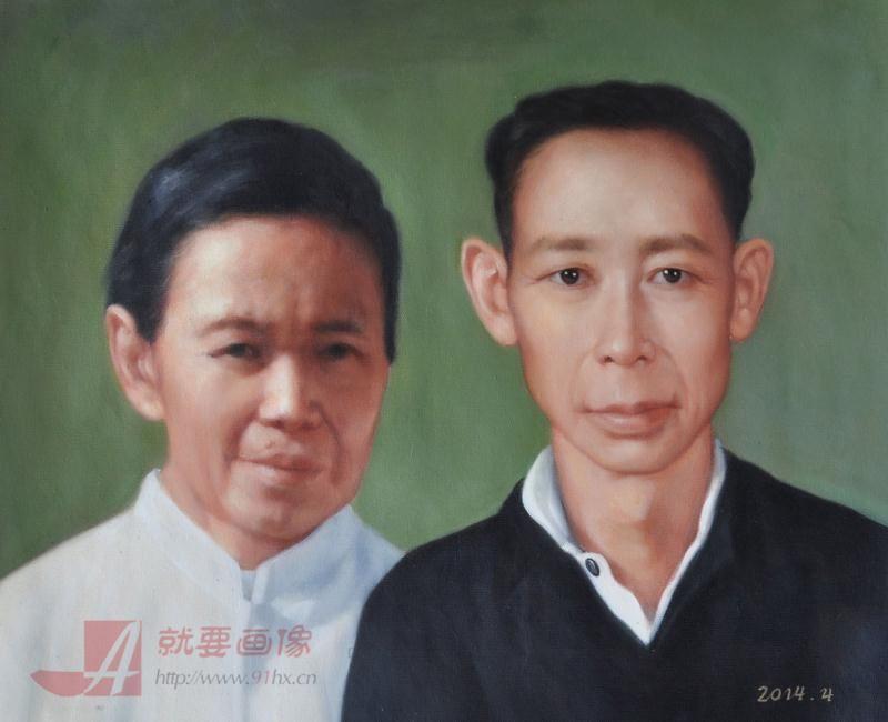 老照片油画定制把老照片画成肖像油画
