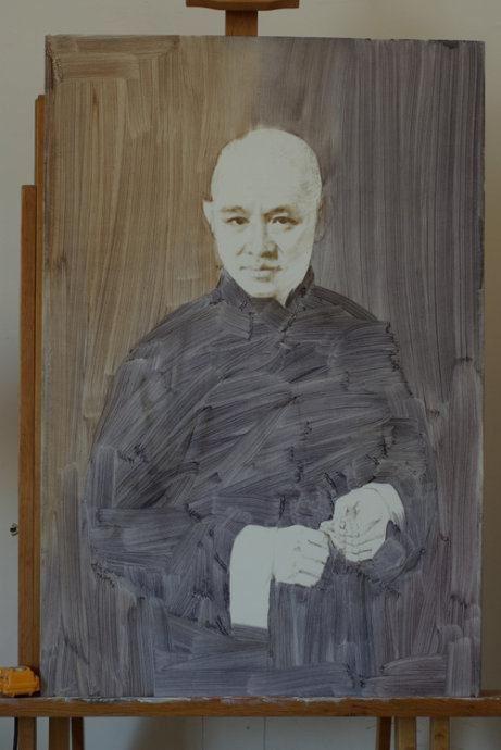 李连杰肖像油画步骤图