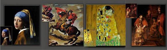 世界名画油画临摹