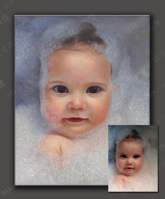 儿童宝宝油画定制