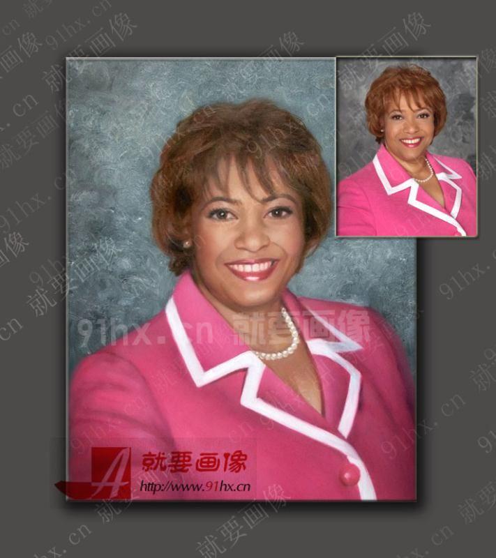 人物肖像油画-女领导商务肖像画
