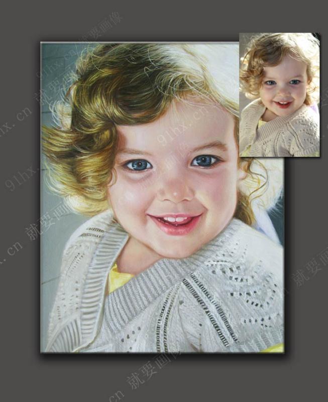 人物肖像油画-儿童油画