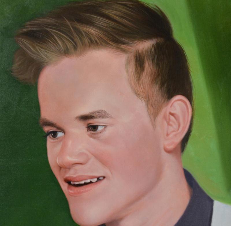 肖像油画脸部油画细节