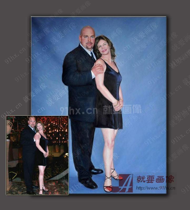夫妻油画定制-找人定制一幅油画送老婆