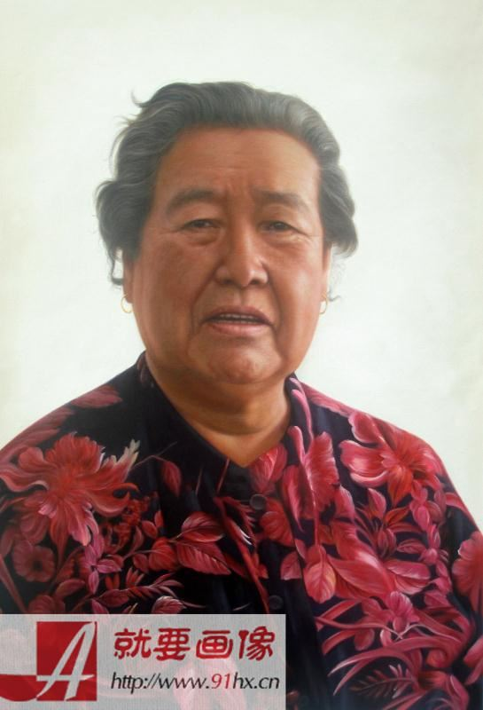 找人给我家人画一幅肖像画-给奶奶定制的一幅画像