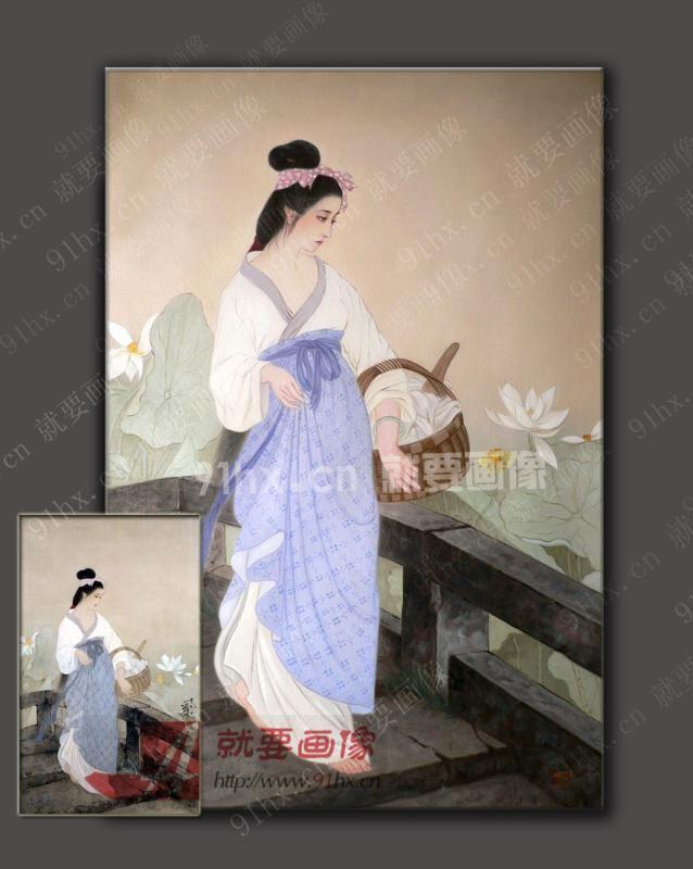 东方美女油画-西施油画
