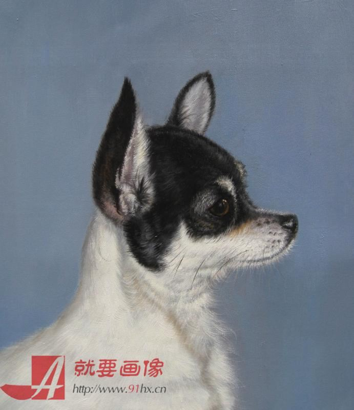 宠物油画画像-可爱小狗油画