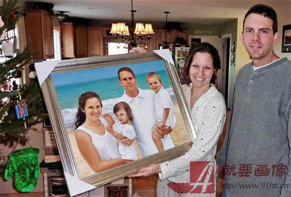 客人反馈回来的画好画像的照片