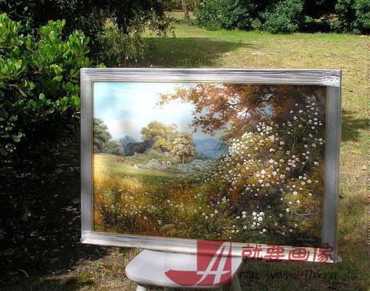 风景油画客人反馈回来的照片