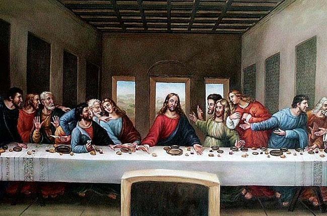 油画作品名称: 名 称:《最后的晚餐》 作 者:达芬奇 创作时间:1495~1497 年 尺 寸:460  880cm 类 别:湿壁画 收 藏:意大利,米兰,格拉齐圣母修道院食堂 达芬奇凭借他高超的造型技巧和捕捉人物性格的能力对一个耳熟能详的场景作出了他独一无二而且震撼人心的诠释,我们甚至只需匆匆浏览一下所有人各不相同的手,便不难发现画家对于人的心理与情感具备多么深的洞察力。因此难怪也有人说,这幅作品虽然是宗教题材,但其真正的兴趣却在于对人类自身的理解。 油画作品入选理由: 文艺复兴盛期最具代表性