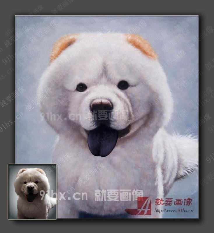 萌萌哒动物油画