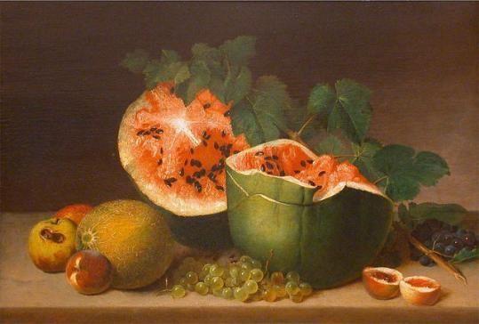 """詹姆斯 皮尔(james peale)1824年创作的油画""""静物""""图片"""