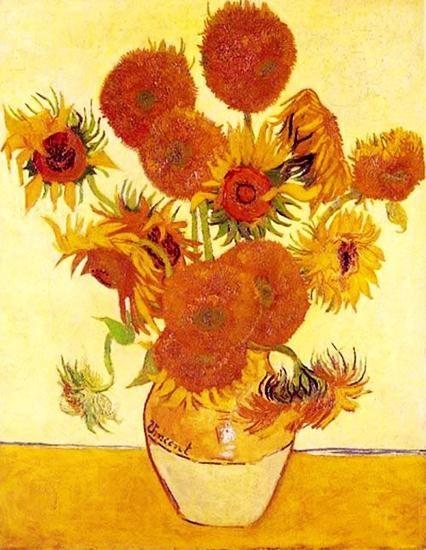 油画作品欣赏-向日葵-凡高
