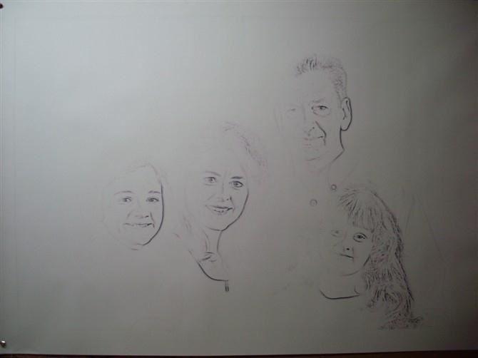手绘肖像油画过程图1
