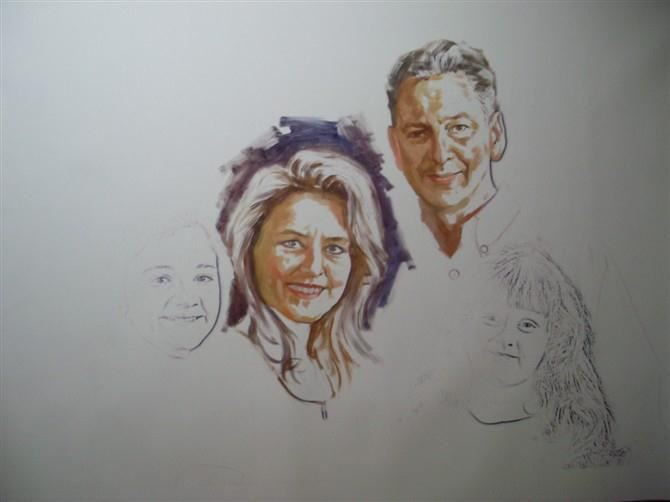 手绘肖像油画过程图2