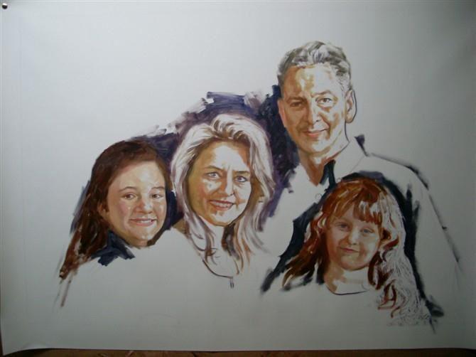 手绘肖像油画过程图3
