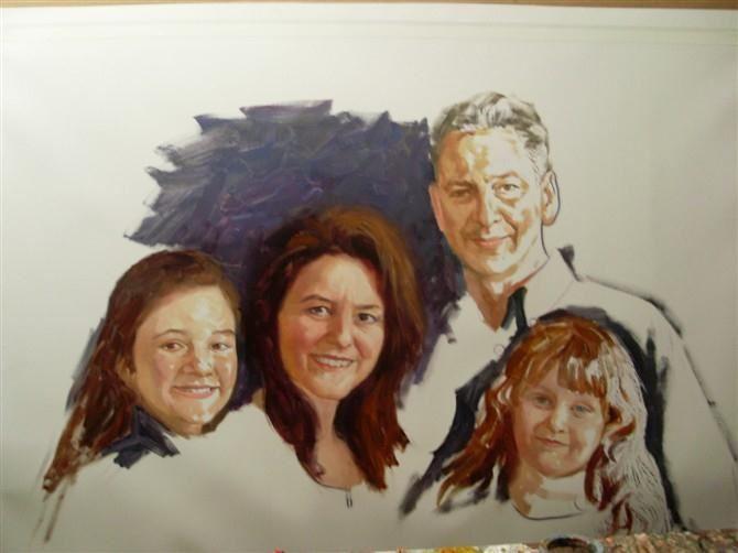 手绘肖像油画过程图4