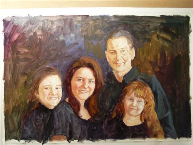 手绘肖像油画过程图6