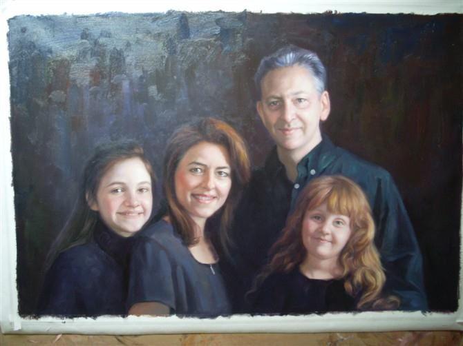 手绘肖像油画过程图7