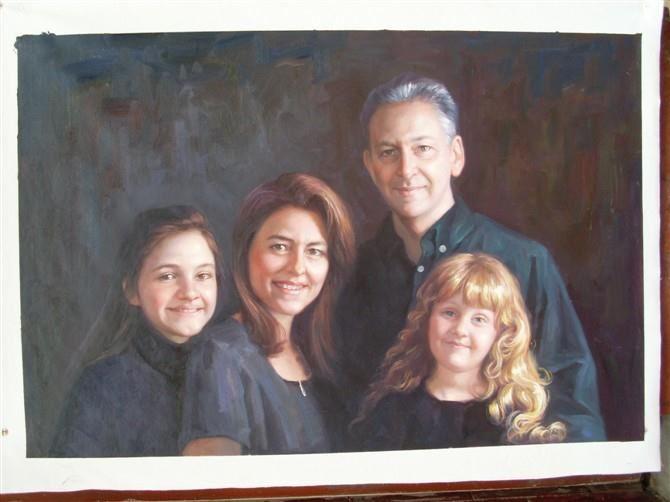 手绘肖像油画过程图8