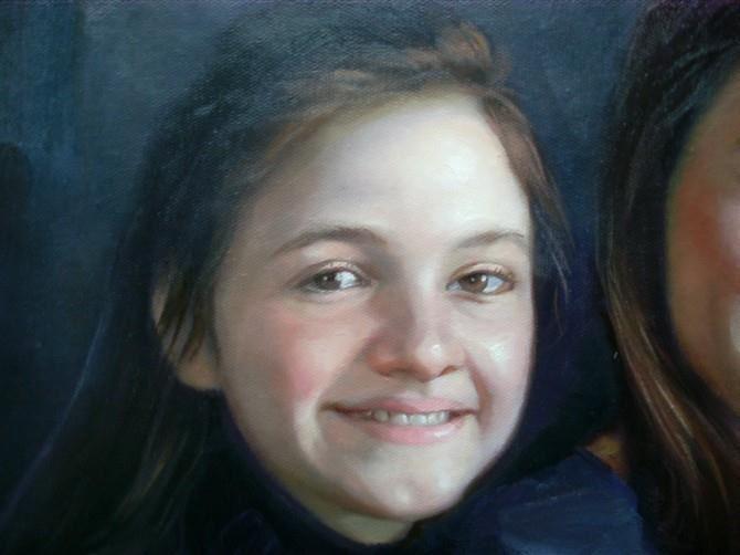 手绘肖像油画过程图9