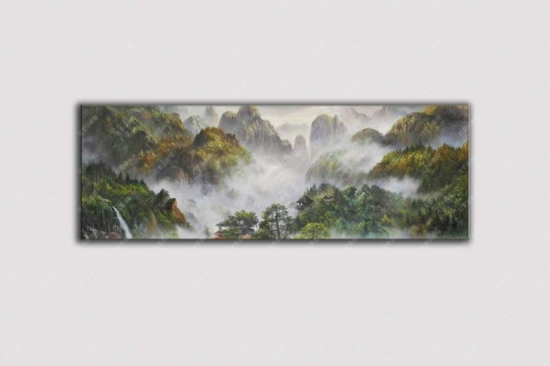 泰山风景写生油画当代油画风景